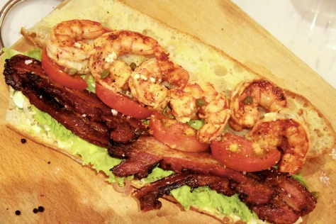 Shrimp and Bacon Po' Boy
