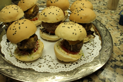 "Petite Sirloin Burgers. Nothing ""slider"" about these bad boys."