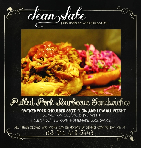 CLEAN SLATE MENU PULLED PORK