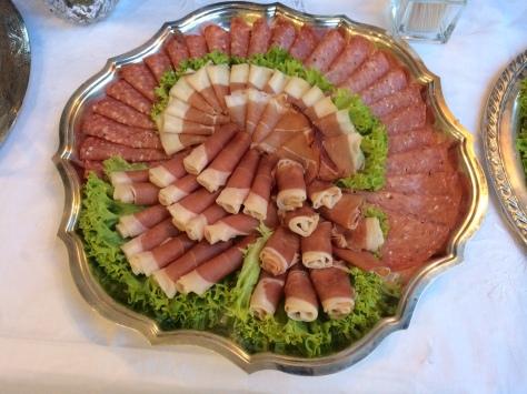 Prosciutto, coppa, speck, salami, and pancetta.