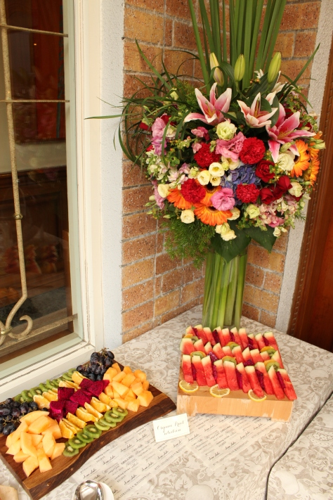 Fresh fruit and flowers!