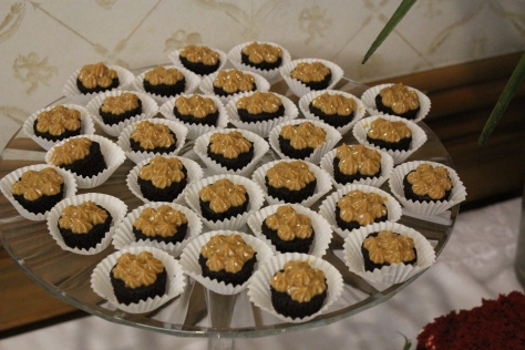 Mini Chocolate Cupcake with Yema. One of my favourites and totally addictive.