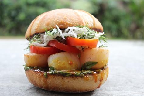 Seared Scallop Sandwich