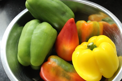 The different flavors provided by each of these multicoloured bell peppers from Rustan's really makes the taste and appearance of jambalaya special.