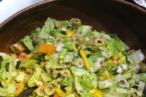 Creole Soak Salad with homemade cajun vinaigrette