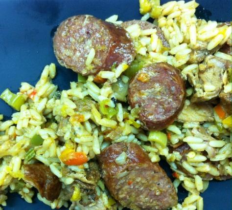 Pork Belly and Sausage Jambalaya